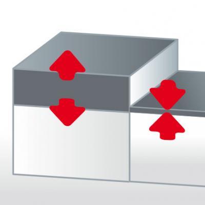 Stärker - Mit ca. 0,5 mm ist die Acrylschicht dicker als jede Lackschicht. Sollten doch einmal oberflächliche Kratzer auftreten, ist genügend Materialreserve zum Auspolieren vorhanden.
